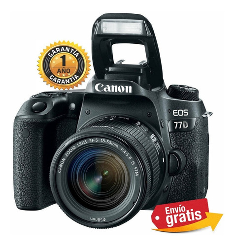 Camara Canon Profesional 77d Lente 18-55mm Wifi Full Hd 24mp