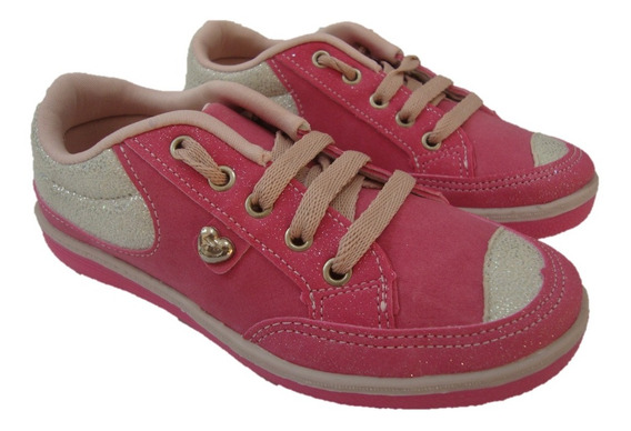 Tênis Infantil Feminino Pé Com Pé Casual Kids 52500 Pink