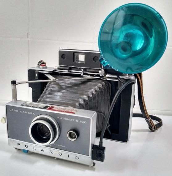 Polaroid Modelo Automatic 100 - Raro Conjunto - Leia