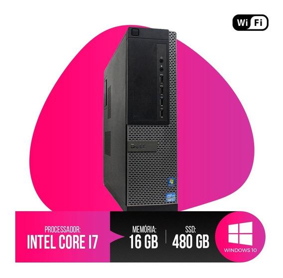 Pc Dell Optiplex Core I7, 16gb Ram Ddr3, Hd Ssd 480gb