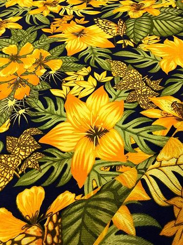 Imagem 1 de 3 de Tecido Estampado Floral Primavera Amarelo 5m