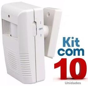 Sensor De Presença Sonoro Sem Fio Ds / Kit Com 10 Unidades