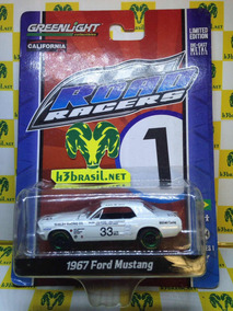 Bx403 Greenlight Green Machine 1967 Ford Mustang Road Racers
