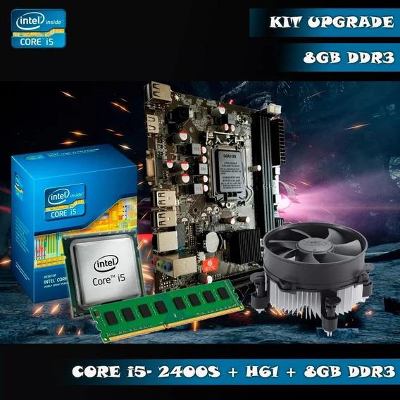 Kit Intel I5 2400 3.2 Ghz + Placa H61 + 8gb Ram Hyper -x