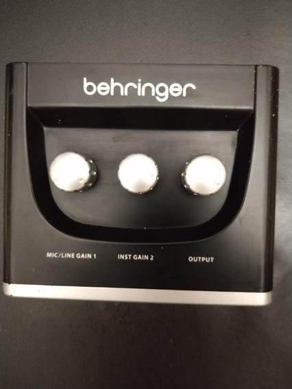 Interface Berhinger U-phoria Um-2 Com Defeito ( Sucata)