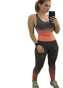 Conjunto Fit Roupas Academia Fitness Crossfit Fem Verde U
