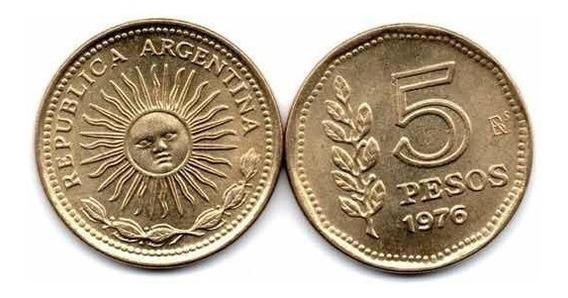 Moneda Argentina 5 Pesos - Año 1976