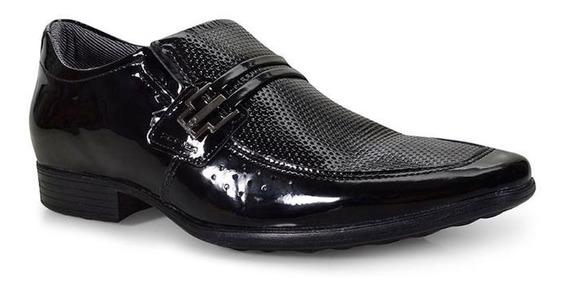 Sapato Social Pegada Masculino Couro - Preto 122822-04