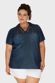 f7e22c7c9 Camisa Jeans Feminina Tamanho 56 - Calçados, Roupas e Bolsas no ...