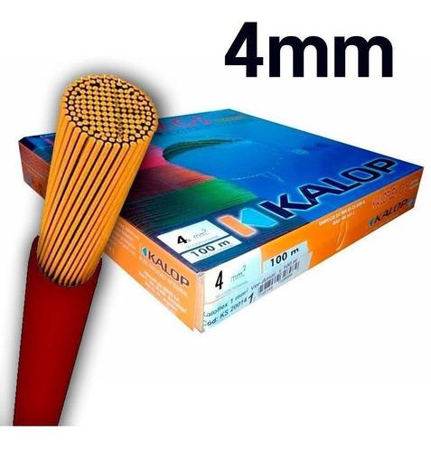 Cable Unipolar Kalop Cat 5 Normalizado 4mm Rollo X 50mts