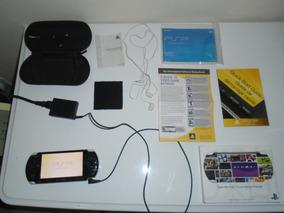 Psp 3001 Cor Preta Com Fone, Estojo, Manual E Wi-fi