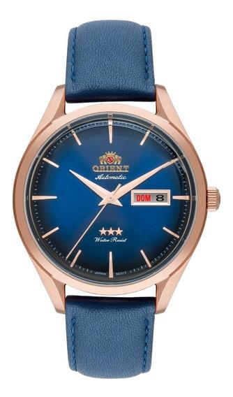 Relógio Orient Masculino Automático F49rc003 Azul Bronze