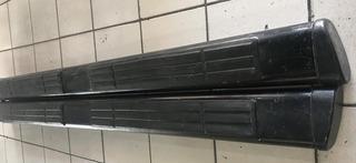 Estribos De Aluminio/plástico Abs Dob/cab Negros Usados 6