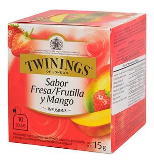 Te Twinings Te Ingles Caja X 10 Saquitos Frutilla Y Mango