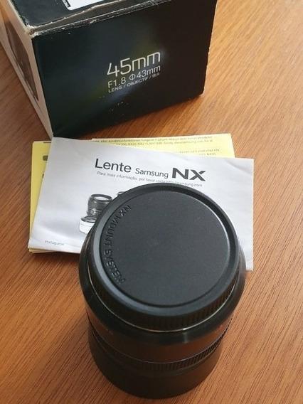 Lente Samsung Nx 45 Mm Foco 1:1.8 Diâmetro 43 Mm .obc Store