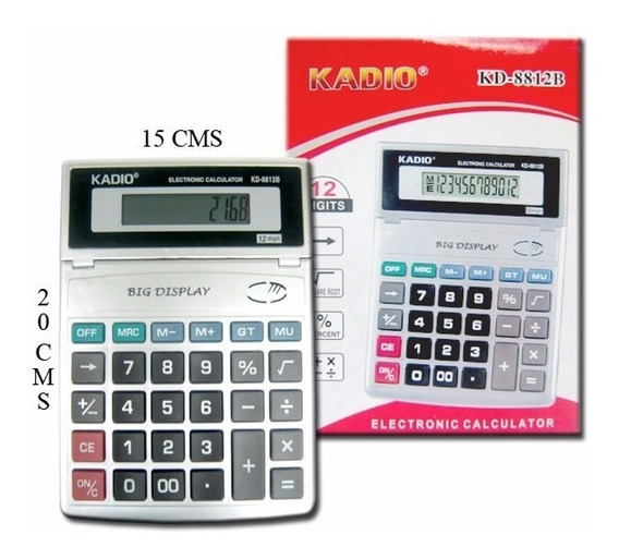 Calculadora Kadio Kd-8812b - 12 Digitos - Na Caixa