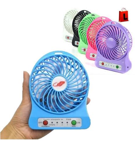 Mini Ventilador Personal Recargable Portatil Con Linterna