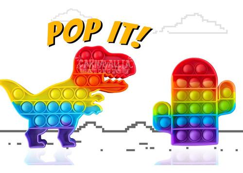 Imagen 1 de 9 de 2 Pop It: Dinosaurio Rex & Cactus Juguete Burbuja Antiestres