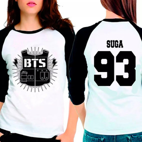 Camiseta Bangtan Boys Bts Suga 93 Raglan Babylook 3/4