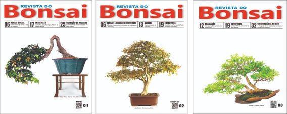 Revista Do Bonsai 01, 02 E 03 - Frete Grátis