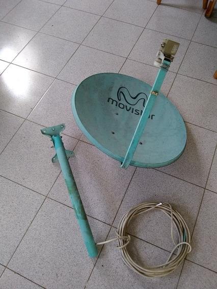 Antena Con Lnb Movistar Usada En Buen Estado Completa