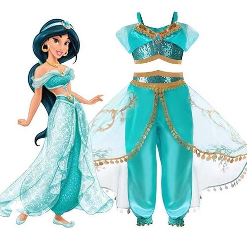 Imagem 1 de 5 de Fantasia Jasmine Infantil Luxo - Disney Princesas