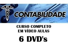 Curso De Contabilidade Em Vídeo Aulas 6 Dvds Frete Gratis