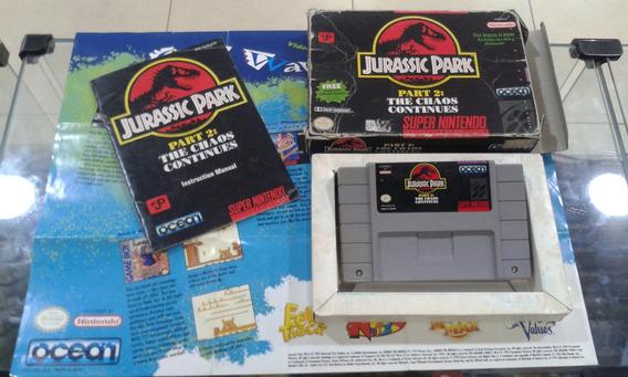 Jurassic Park 2 - Original Super Nintendo Usado Na Caixa