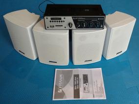 Kit Sonorização Ps Frahm Slim 1000 Plus + 4 Caixas Ps 200