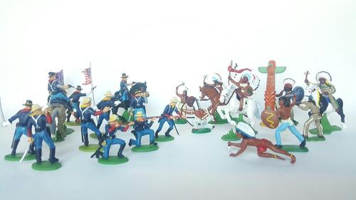 Indios Y Norteamericanos Lote X 18 Soldaditos De Plástico
