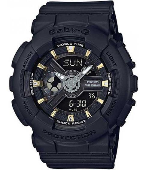 Relógio Feminino Casio Baby-g Analógico Ba-110ga-1adr -preto