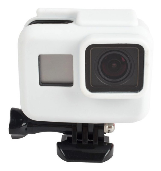 Capa Case Silicone Gopro Hero 5 6 7 Black Cor Branco