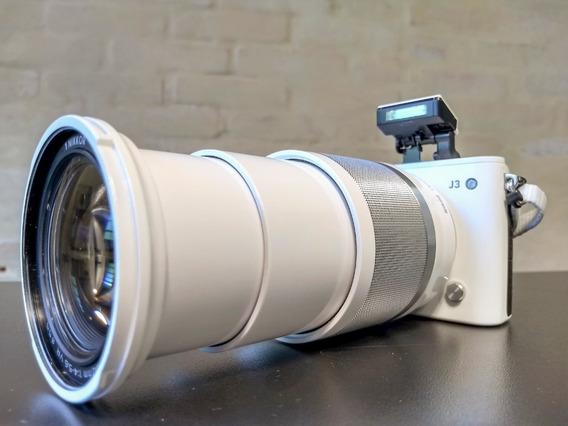 Câmera Nikon 1 J3 + Lente Nikkor 10-100 + Caselogic