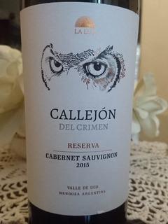 Vino Callejon Del Crimen Reserva Cabernet Sauvignon
