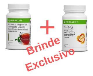 Chá Herbalife Kit Nrg + Chá Verde + Brinde Exclusivo