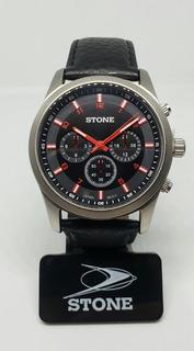 Reloj Stone Hombre Analogico Malla Cuero Modelo St0960