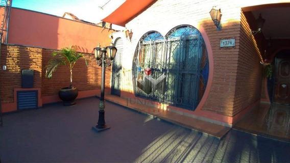 Casa Com 3 Dormitórios Para Alugar, 180 M² Por R$ 1.500/mês - Campos Elíseos - Ribeirão Preto/sp - Ca0201