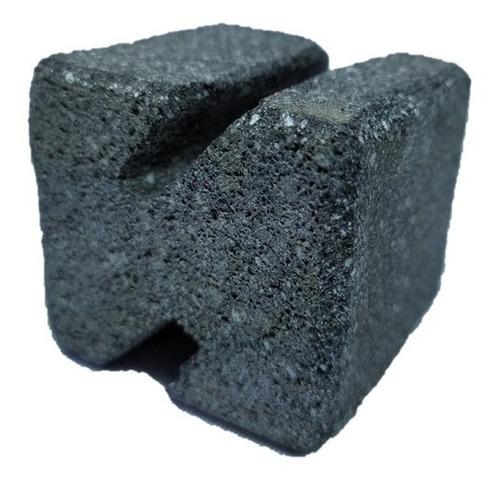 Tarjetero En Piedra Volcánica En Forma Z