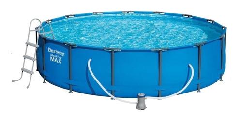 Pileta estructural redonda Bestway 56488 con capacidad de 14970 litros de 4.57m de diámetro  azul