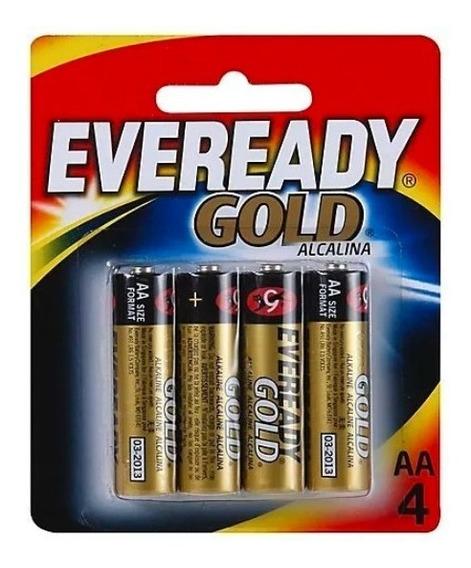 Pilha Eveready Gold Aa4 Alcalina Caixa C/ 12 Pares 48 Pilhas