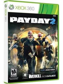 Jogo Payday 2 Xbox 360 Mídia Física Original Novo Lacrado