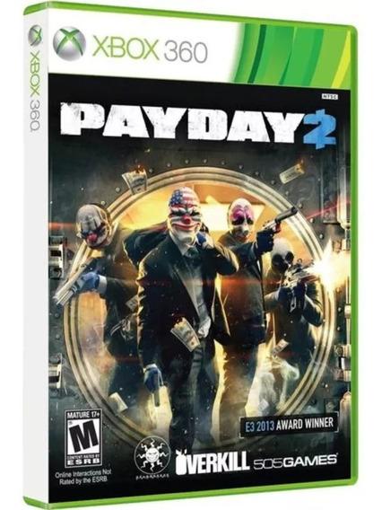 Jogo Payday 2 Xbox 360 Mídia Física Original Frete Grátis