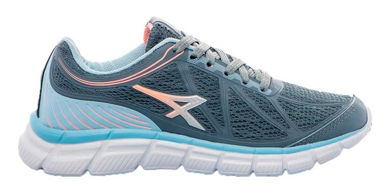 Zapatillas Athix Running Mujer Lines Steel Celeste Cli