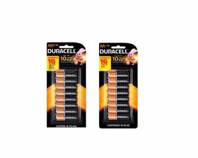 Pilha Duracell Alcalina Kit Aaa C/16 + Aa C/16