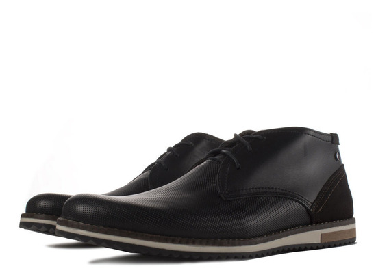 Zapato De Piel Karosso Kasual 1320 Negro