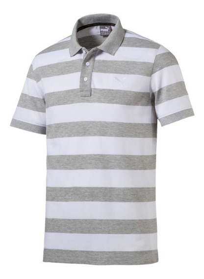 Playera Puma Polo Essentials Striped Pique Polo Casual