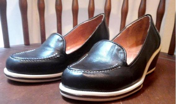 Mocasin Zapato Con Taco Mujer Plataforma