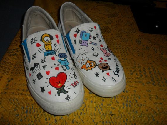 Tenis All Star Converse Bts Bt21 Kpop Tam 40