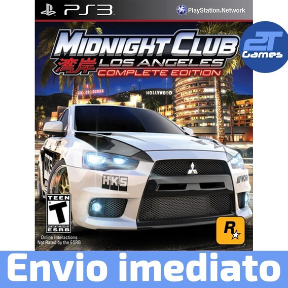 Midnight Club Los Angeles Complete Edition Prontaent Ps3 Psn