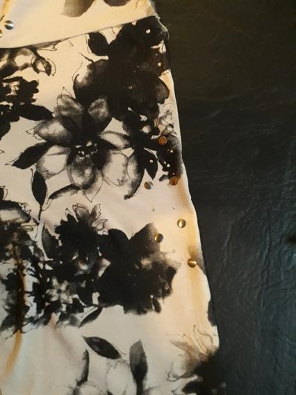 Calzas Chupin Algodón Floreada Color Crema Y Negro Liquido!